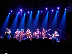The combination of Honey Honey and Trampled by Turtles.